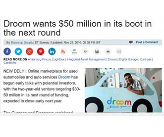 Droom wants $50 million in its boot in the next round