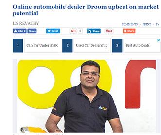 Online Automobile Dealer Droom Upbeat on Market Potential