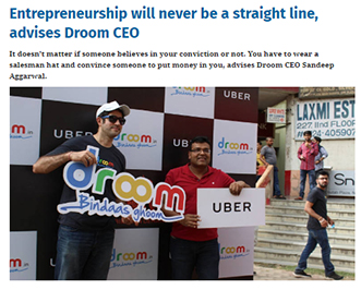 Entrepreneurship will never be a straight line, advises Droom CEO