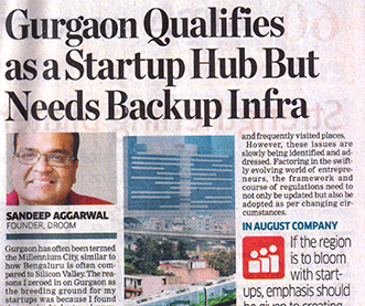 Gurgaon qualifies as a start up hub