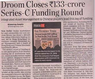 Droom closes series-C funding
