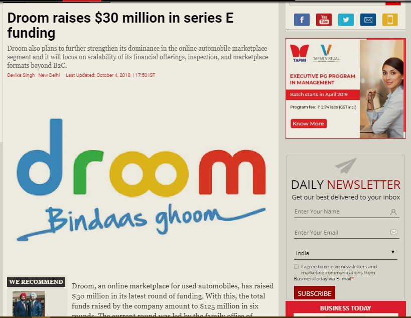 https://www.businesstoday.in/current/corporate/droom-joins-the-unicorn-club-raises-30-million-dollars-in-series-e-funding/story/283810.html