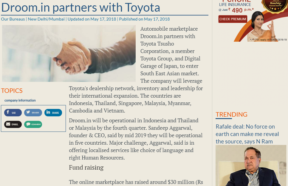 https://www.thehindubusinessline.com/companies/droomin-partners-with-toyota/article23913542.ece