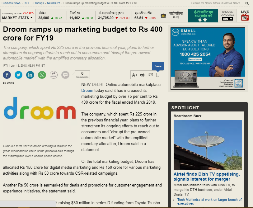 https://economictimes.indiatimes.com/small-biz/startups/newsbuzz/droom-ramps-up-marketing-budget-to-rs-400-crore-for-fy19/articleshow/64633606.cms