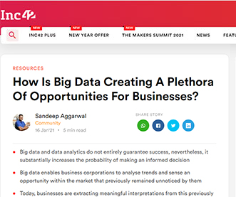How Is Big Data Creating A Plethora Of Opportunities For Businesses?
